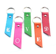 Pela Monogram Initial Leather Key Chain & Key Fob