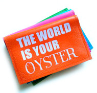 Leather Business Card Holder & Travel Card Holder - The World Is Your Oyster