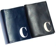 Mia Men's Single Initial Personalized Leather Passport Cover