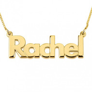 Bold Lowercase Name Personalized Necklace - 24K Gold Plated