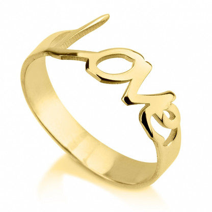 24K Gold Plated Love Ring