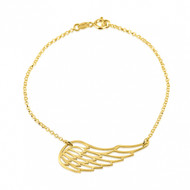 Angel's Wing Bracelet - Gold