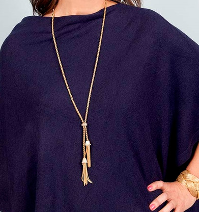 Richmond Lariat Necklace = Gold Plated