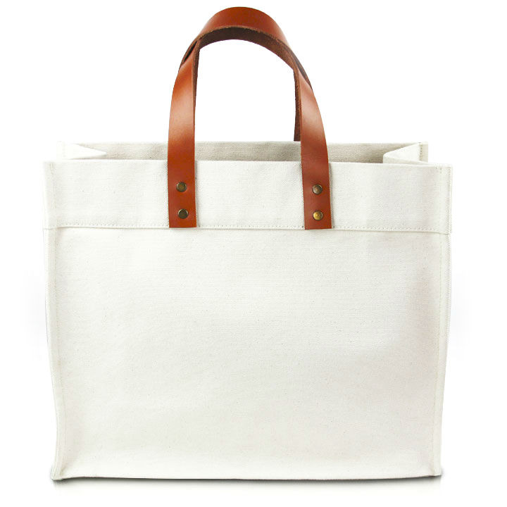 Classic Fulham Canvas Tote w/ Leather Straps