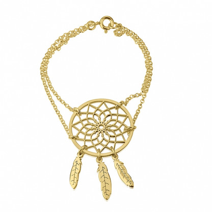 Dream Catcher Bracelet - 24K Gold