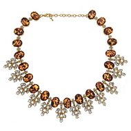Serena Crystal Necklace Tortoise