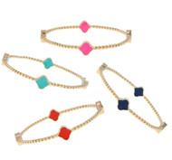Rope Spade Bangle Bracelet
