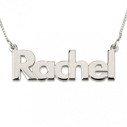 Personalized Bold Lowercase Name Necklace - Sterling Silver
