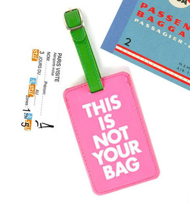 This Is Not Your Bag Leather Luggage Tag
