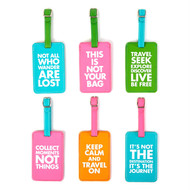Chit Chat Leather Luggage Tags