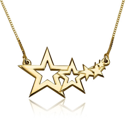 Shooting Stars Necklace - 24K Gold Plated
