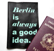 Berlin Is Always a Good Idea Men's Passport Holder, Personalized Men's Passport Cover