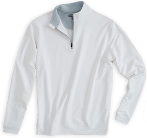 Peter Millar Perth Performance Pullover in White