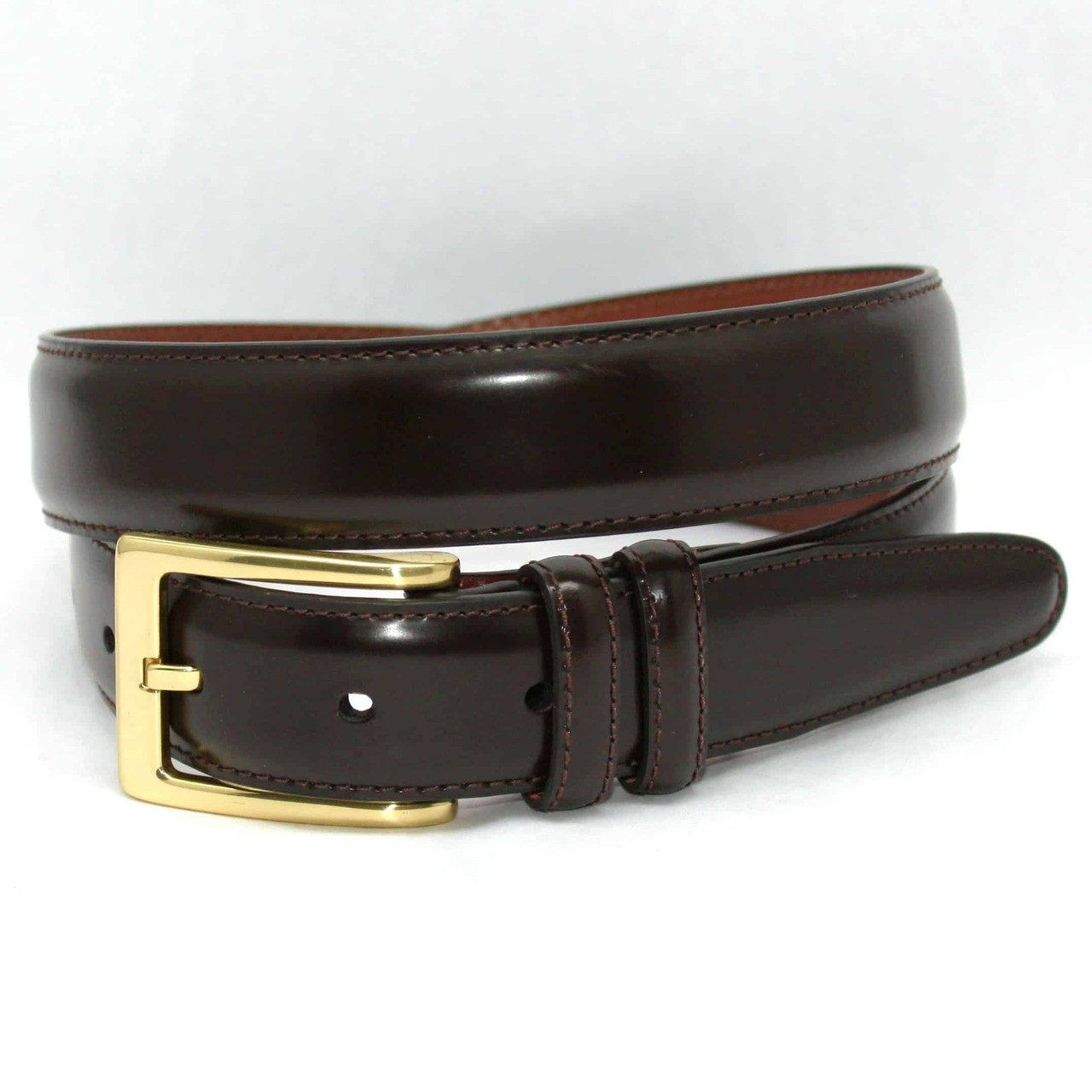 torino belts antigua leather belt in brown hornor and