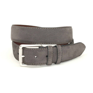 Torino Belts European Sueded Calfskin Belt in Slate