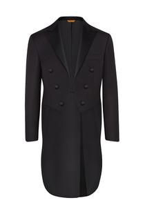 Hickey Freeman Tasmanian Tuxedo: Beacon in Black with Full Tails - Jacket