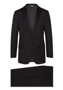 Hickey Freeman Tasmanian Tuxedo: Beacon - Notch Lapel in Black