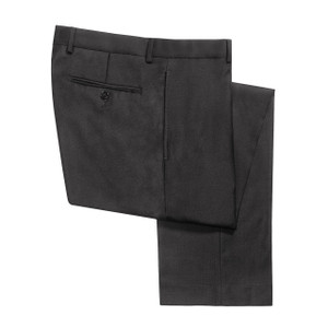 Calvin Klein Slim Fit Flat Front Pants - Charcoal