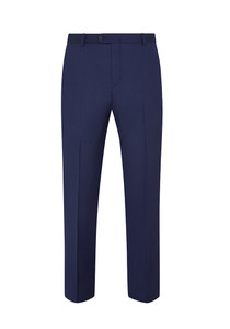 Hickey Freeman Traveler Wool Flat Front Trousers: Beacon in New Blue