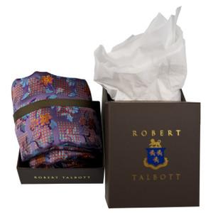Robert Talbott Custom Seven Fold Silk Tie in Iris & Tiger Floral