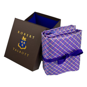 Robert Talbott Custom Estate Silk Tie in Violet Tartan
