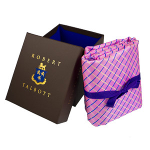 Robert Talbott Custom Estate Silk Tie in Pink Tartan