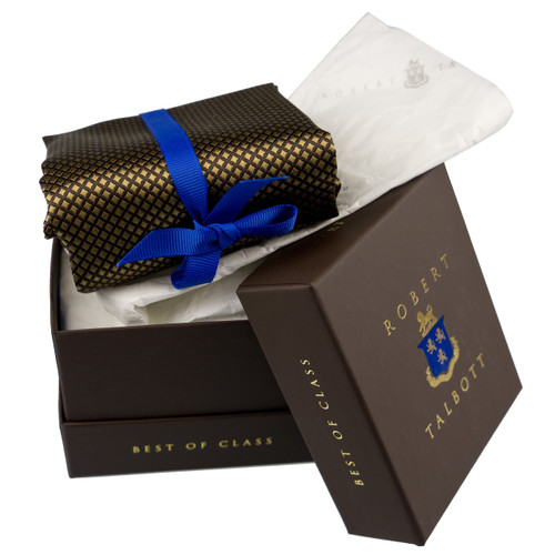 Robert Talbott Custom Best of Class Silk Tie in Chocolate Diamonds