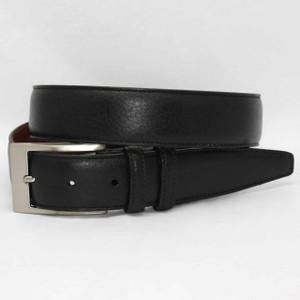Torino Belts Soft Deertan Glove Leather Belt in Black