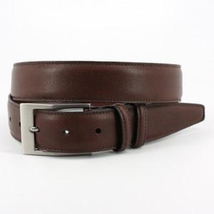 Torino Belts Soft Deertan Glove Leather Belt in Chestnut
