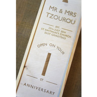 Wooden Personalised Wedding Winebox
