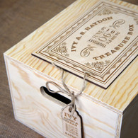Wooden engraved and personalised memory or treasure box- ideal for a wedding or a newborn baby gift