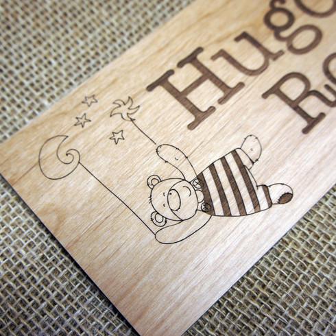 camdeco kids and babies engraved wooden bedroom door signs