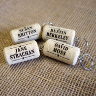 Cork laser engraved Keyrings - Personalised Place Names