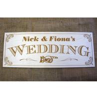 Wooden laser engraved Wedding sign