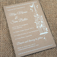 Kraft Wedding Invitations - Birdcage