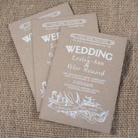 Kraft Wedding Invitations - Swallows
