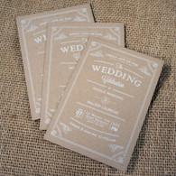 Kraft Wedding Invitations - Vintage Flourish