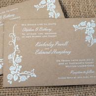 Kraft Wedding Invitations - Wild Rose