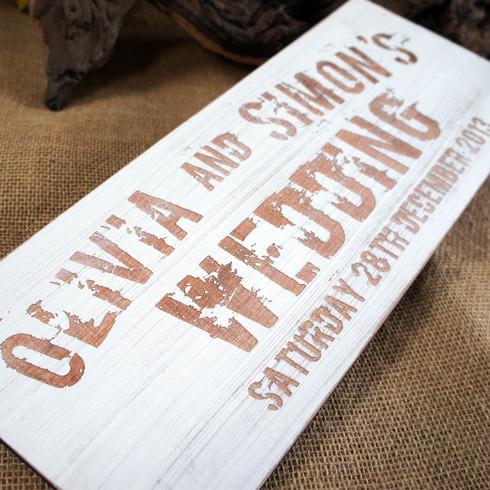 Camdeco Vintage Wooden Wedding Signs