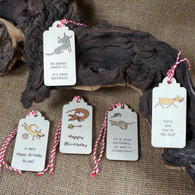 Wooden Gift Tags - Birthday Dog Tags