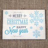 Wooden Printed Postcard - Snowflake