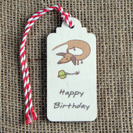 Wooden Printed Gift Tags - Happy Birthday
