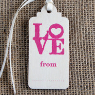 Wooden Printed Gift Tag - Love From