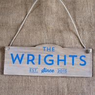 Solid Oak Printed Wedding Sign - Established Since