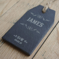 Personalised slate tag - Wedding or Event Place Setting