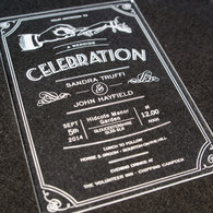 Clear Acrylic laser engraved Wedding Invitation - Celebration