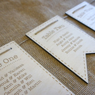 Wooden Wedding Table Plan - Bunting
