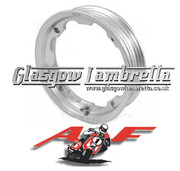AF RAYSPEED Lambretta Set of 3 x TUBELESS WHEEL RIMS in POLISHED ALUMINIUM