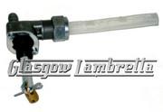 OMG Lambretta s1, s2 & s3 Italian FAST FLOW PETROL TAP with REAR EXIT