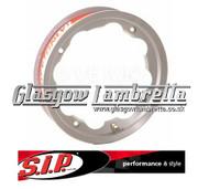 S.I.P. Lambretta Tubelees Wheel Rim Polished Aluminium Set of 2
